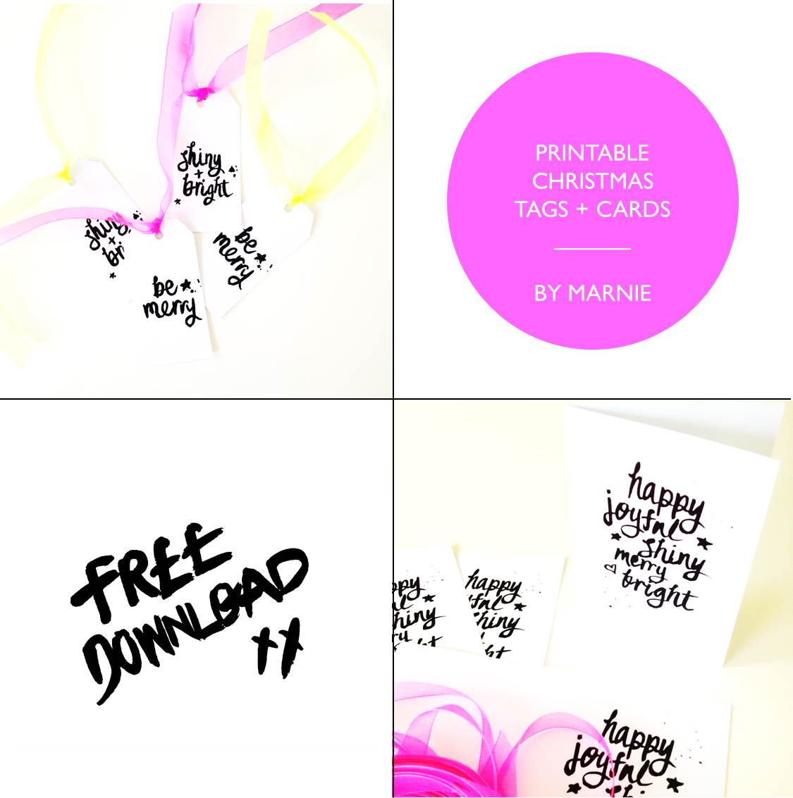 Christmas 2014 printable tags + cards by Marnie McDermott