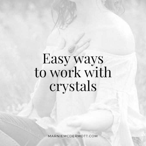 Easy ways to work with crystals | MarnieTV